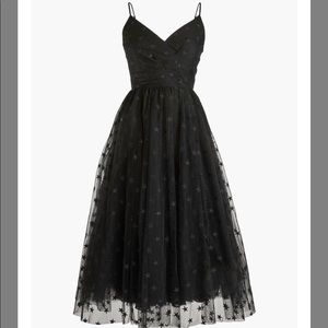 J Crew black tulle dress